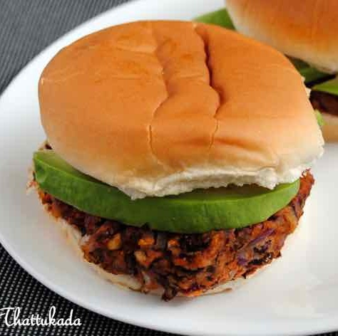 How to make Red Kidney Beans/Rajma and Avocado Burger