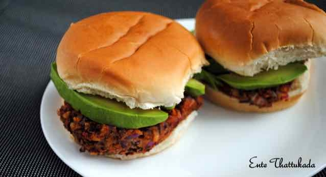 Photo of Red Kidney Beans/Rajma and Avocado Burger by anu kollon at BetterButter