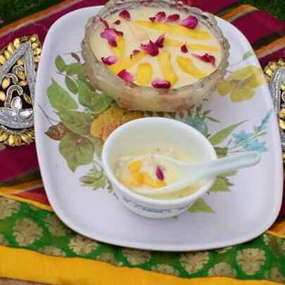 How to make Shahi Mango paneer kheer / Mango flavoured cottage cheese pudding