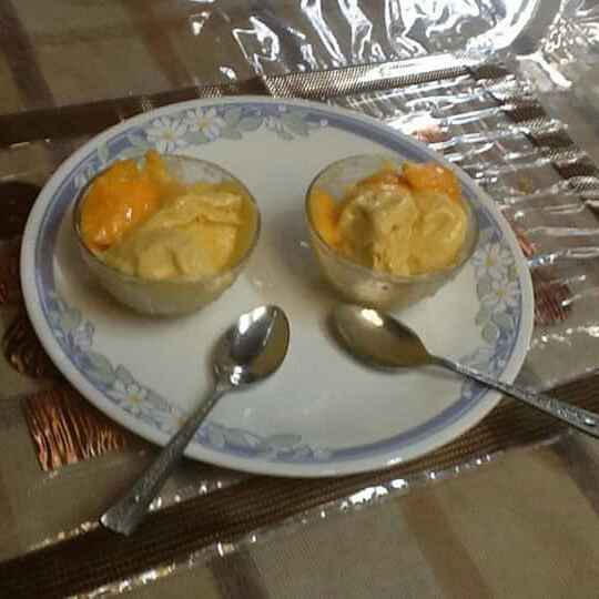 Photo of Mango ice cream (no cooking dessert ) by Anu Lahar at BetterButter