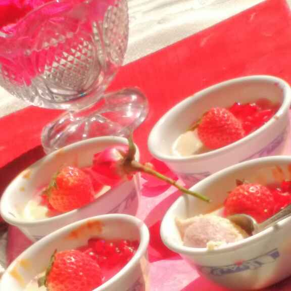 Photo of Strawberry Flavoured Bhapa Doi/ Baked Doi by Anu Lahar at BetterButter