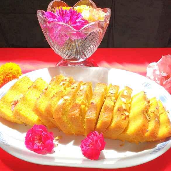 Photo of Mango Semolina Cake !! by Anu Lahar at BetterButter
