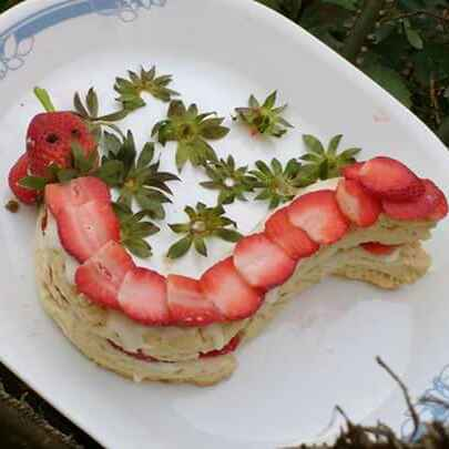 Photo of Eggless strawberry short cake snake by Anu Lahar at BetterButter