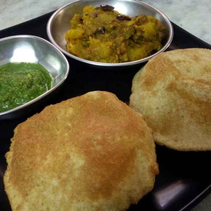 How to make Sweet and sour pumpkin with poori