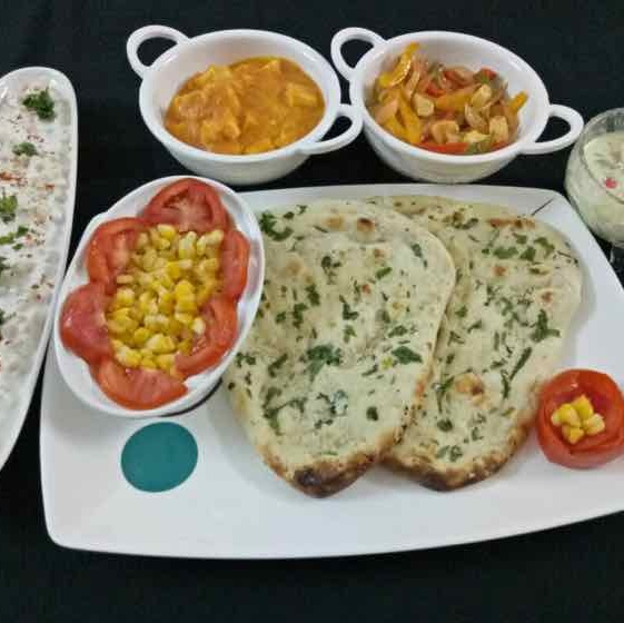 How to make Shahi Paneer and mix veggies with garlic butter naan