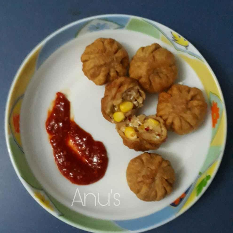 How to make Fried cheese- paneer-corn momos