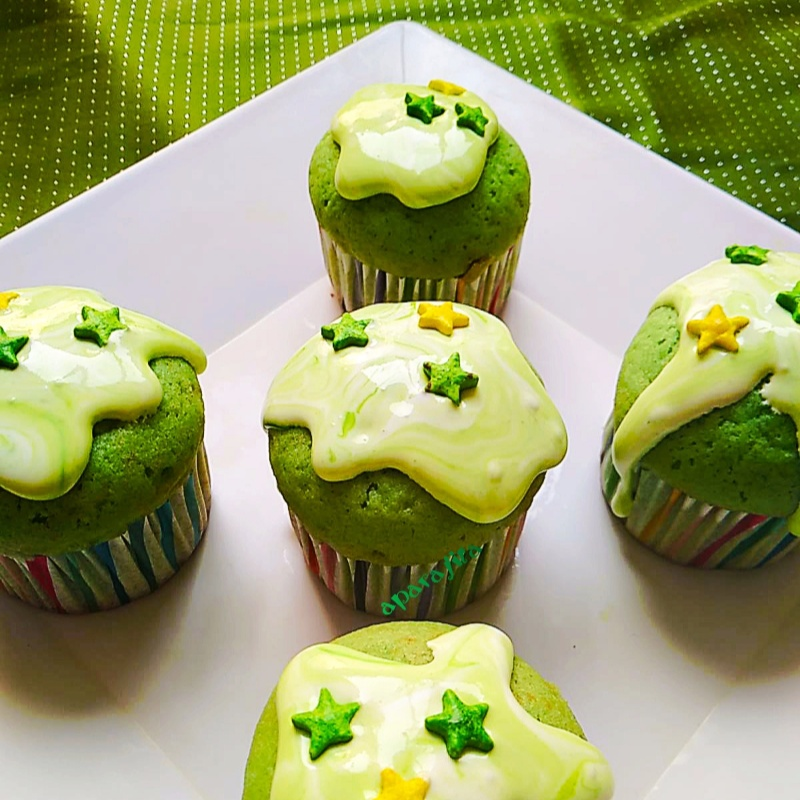 Photo of Spinach Cupcakes with Mint Chocolate Frosting by Aparajita Dutta at BetterButter