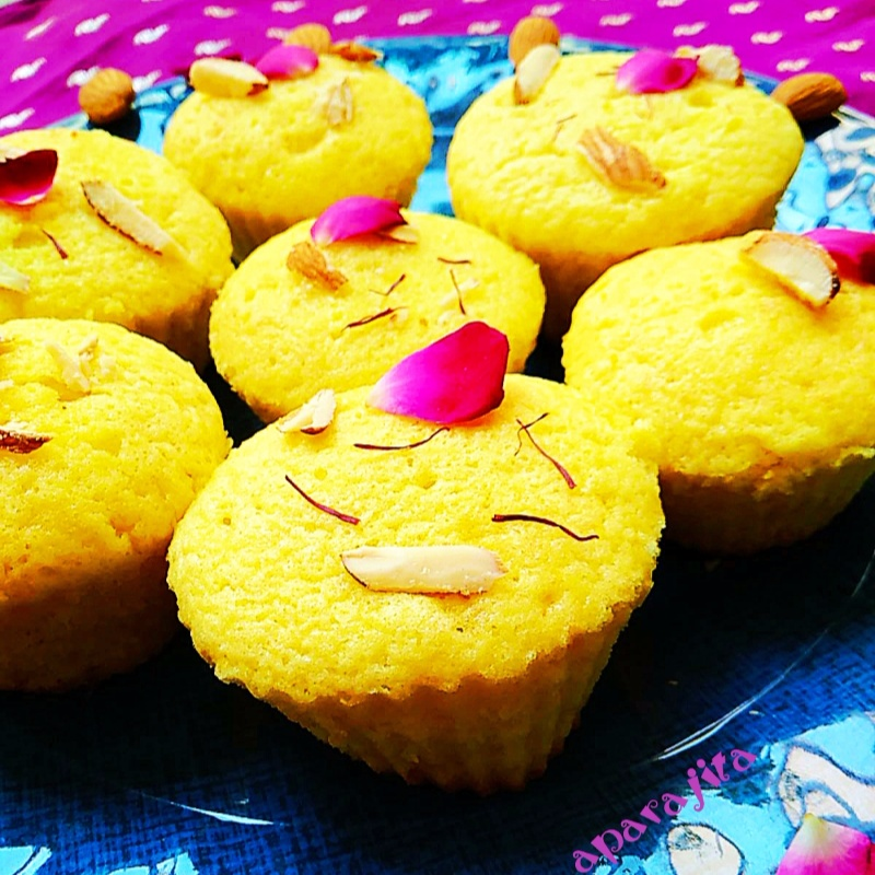 How to make Cardamom and saffron cupcakes