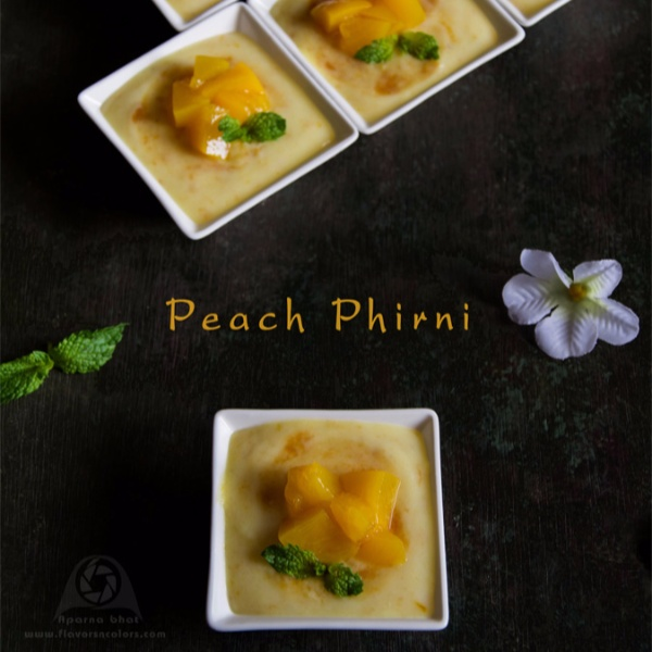 How to make Peach Phirni