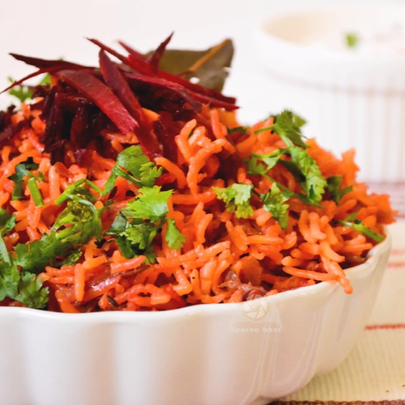 Photo of Beetroot rice by Aparna Bhat at BetterButter