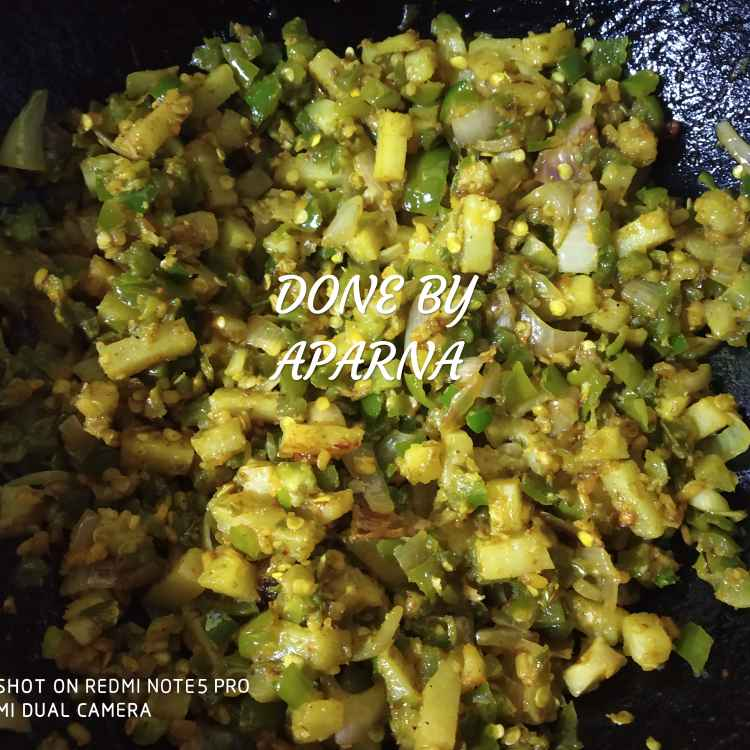 How to make Moongdal capsicum fry
