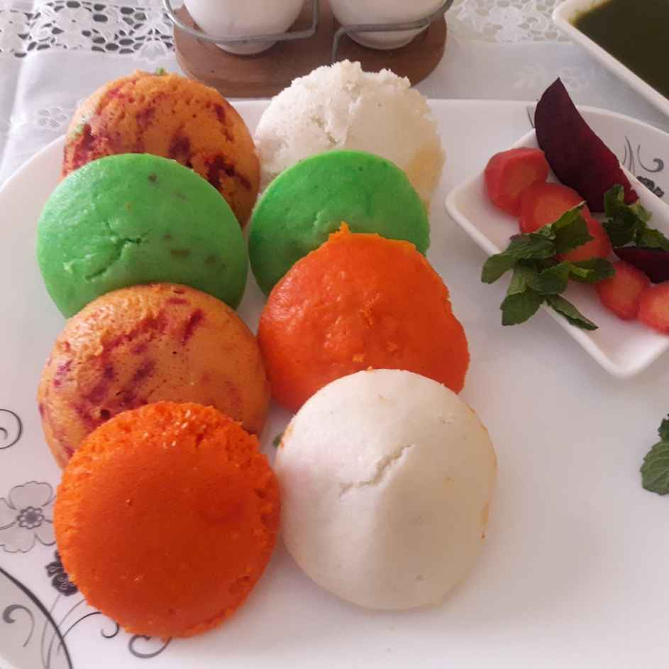 Photo of Colourful idlis with vegetable juices by Aparna Reddy at BetterButter