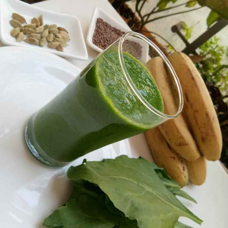 Photo of Green protien power breakfast smoothie by Aparna Reddy at BetterButter