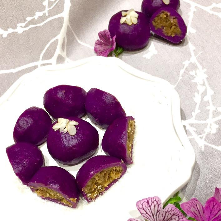 Photo of Purple sweet potato Mochi Modak by Aparna Vibhute-Yelmar at BetterButter