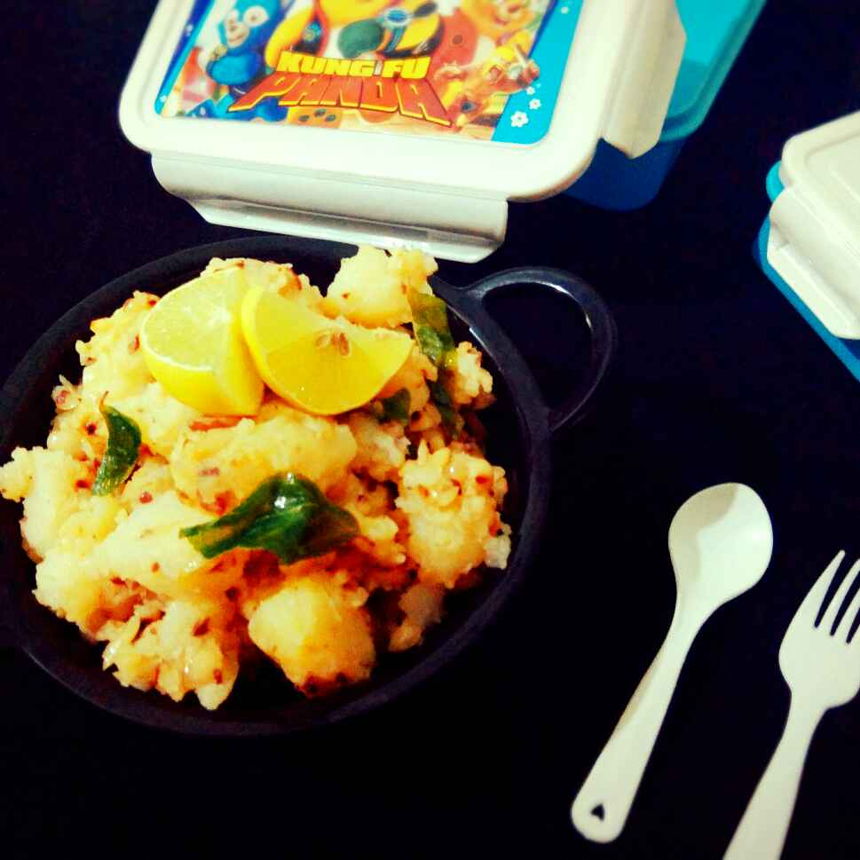 Photo of Potato pinat bhaji by Apeksha's Kitchen at BetterButter