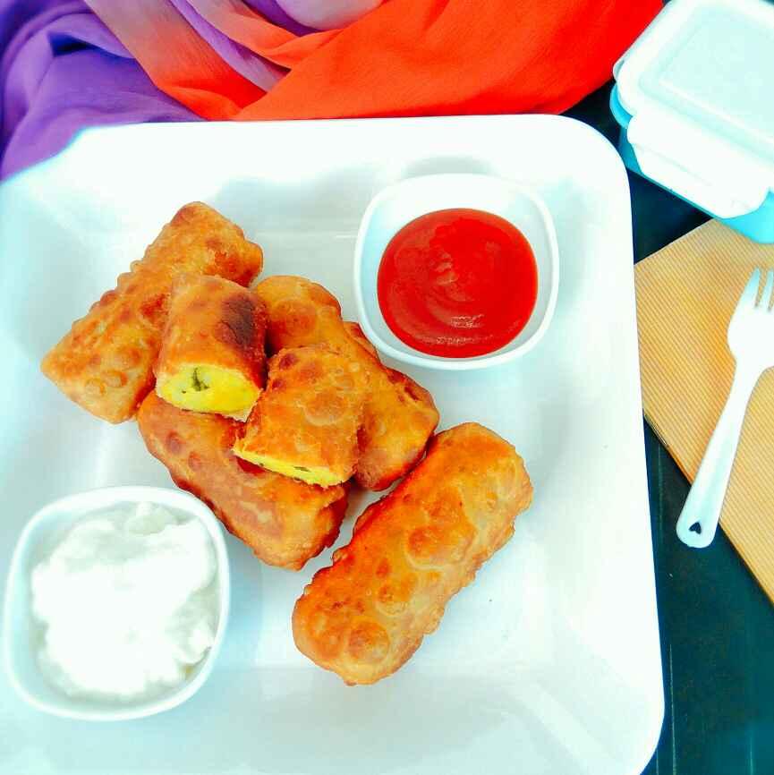 Photo of Poori bhaji spring rolls by Apeksha's Kitchen at BetterButter