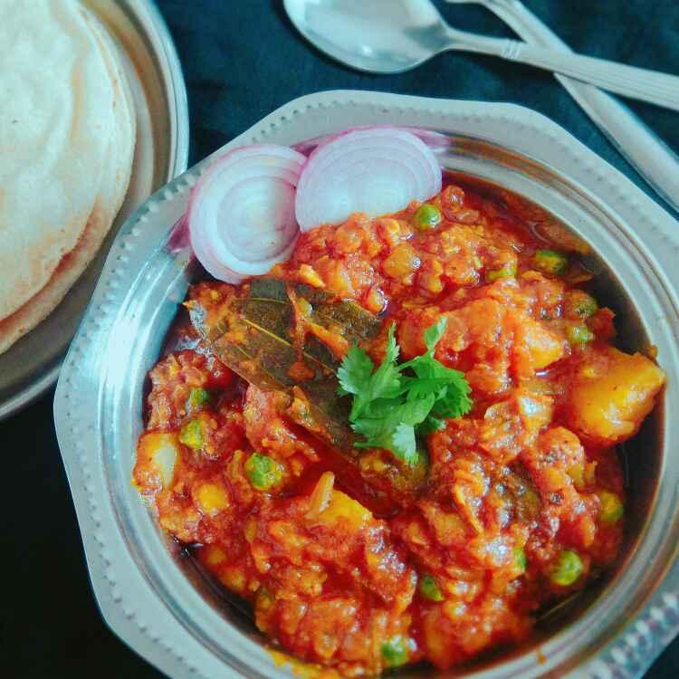 Photo of Halvai stail alu matar by Apeksha's Kitchen at BetterButter