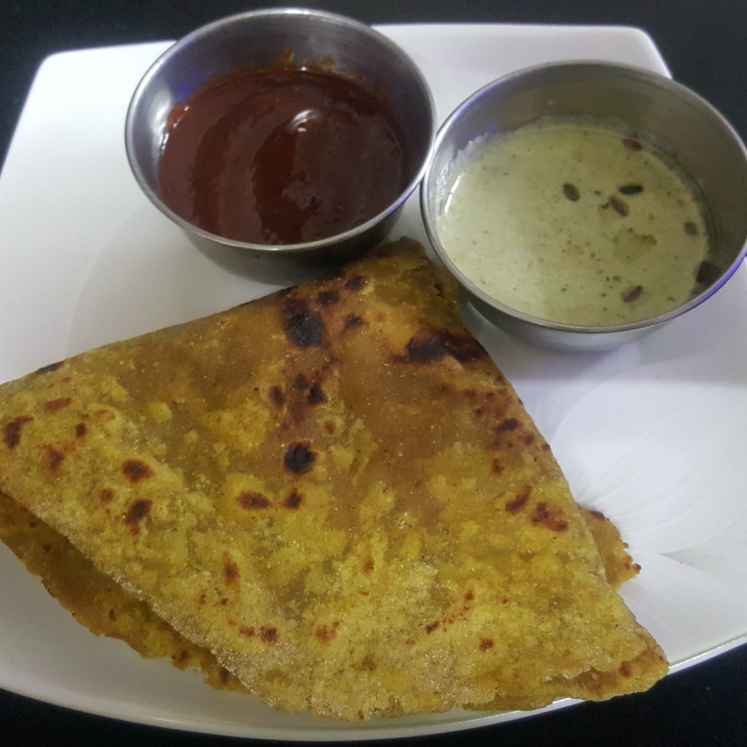 Photo of Fenugreek paratha with red chilli chatni by Archana Chaudhari at BetterButter
