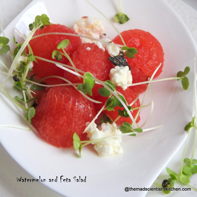 How to make Watermelon and Feta Salad with Micro Greens