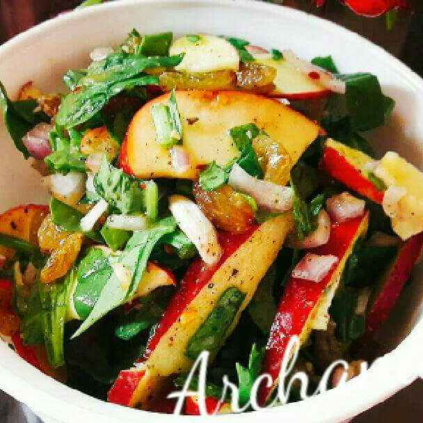 Photo of Spinach apple tangy salad by Archana Srivastav at BetterButter