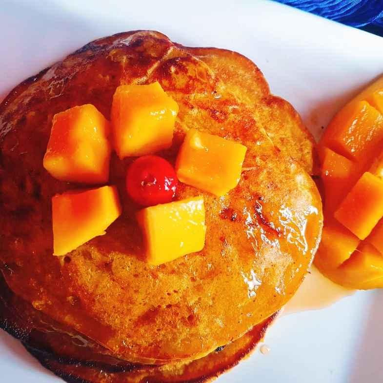 Photo of Eggless mango pan cake by Archana Srivastav at BetterButter