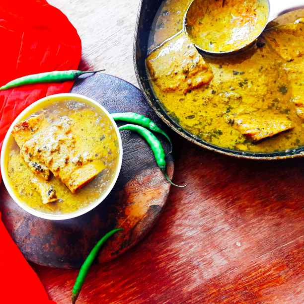 How to make Veg fish curry in spicy mustard gravy