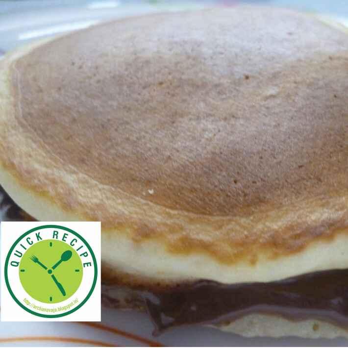 How to make Chocolate Pancake(Dora cake)