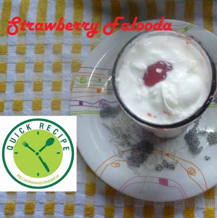 How to make Strawberry Falooda