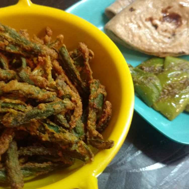 Photo of Kurkuri bhindi and Mirchi fry by Archana Vaja at BetterButter