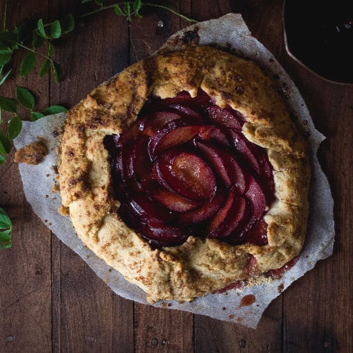 Photo of Plum Red Wine Galette by Aroshaliny Godfrey at BetterButter