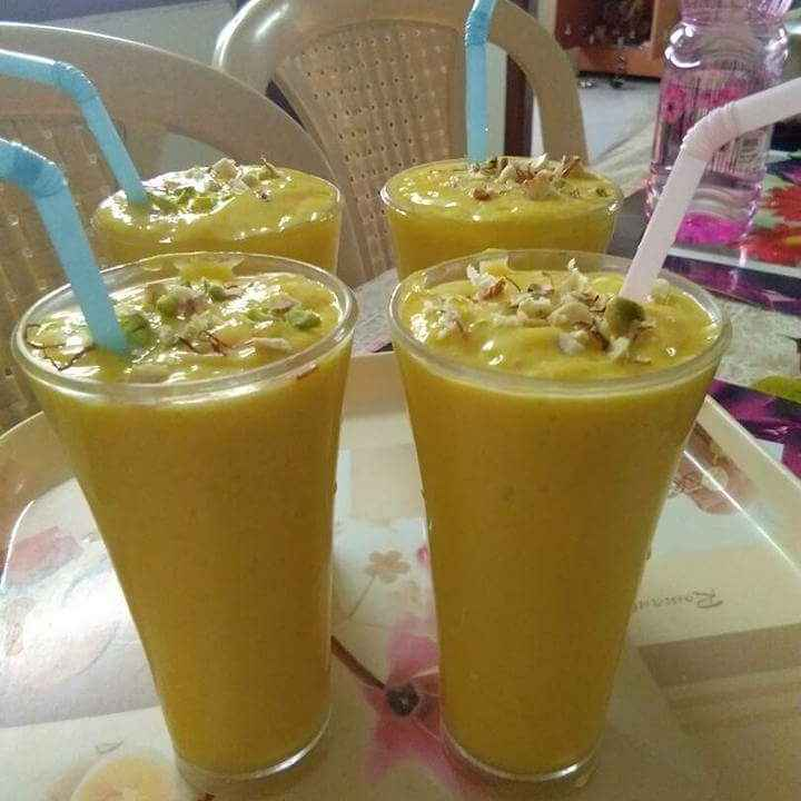 Photo of Mango milk shake by Arpita Bhattacharyya at BetterButter