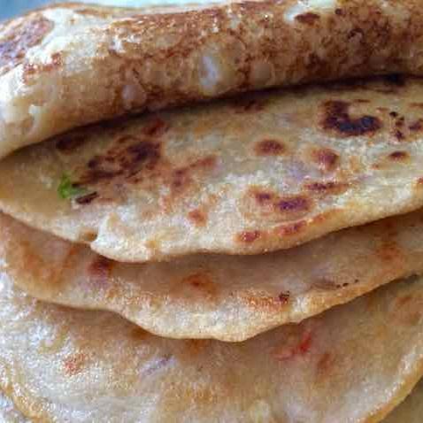 How to make Wheat flour Savory pancake