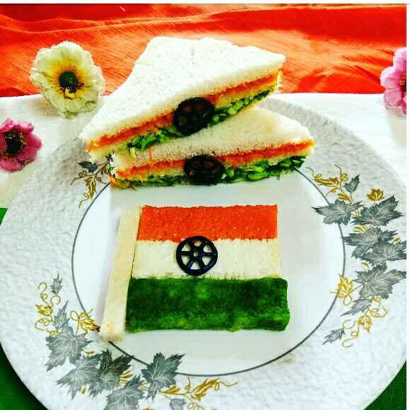 Photo of Tricolour Veg Sandwich by Arpita Majumder at BetterButter