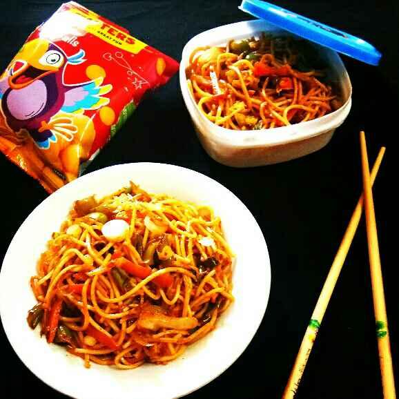 Photo of Veg Schezwan Noodles by Arpita Majumder at BetterButter