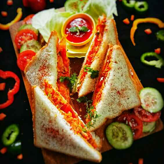Photo of Spicy Veg Peri Peri Sandwich by Arpita Majumder at BetterButter