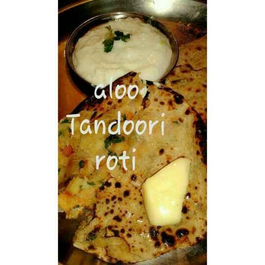 How to make  Tandoori Aloo Roti