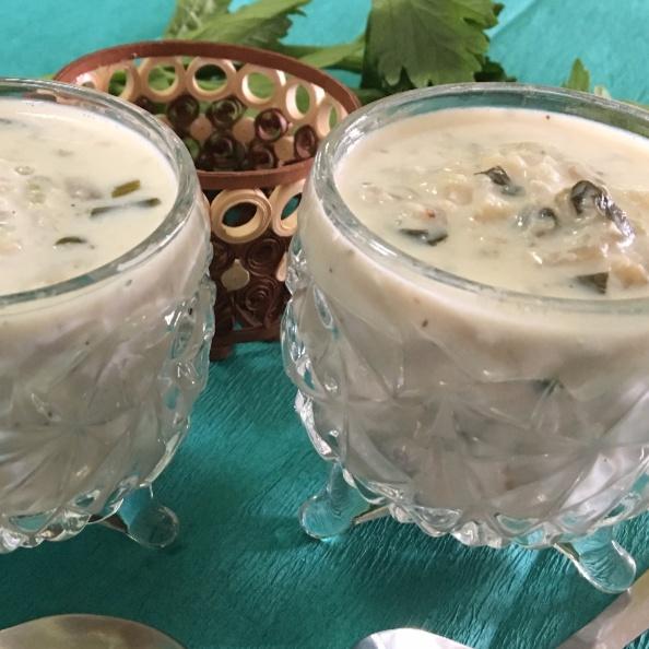 How to make Raw Banana and Celery Soup (Kache Kele aur Celery ka Soup)