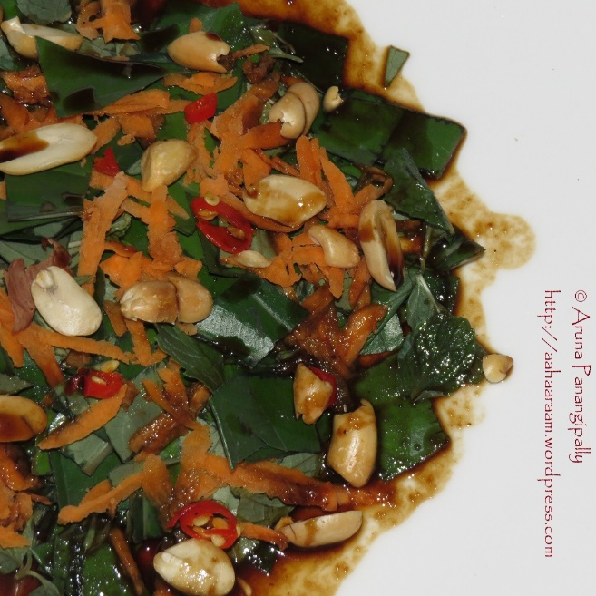 How to make Betel Leaf Salad with Tamarind, Lime, Soy and Palm Sugar Dressing