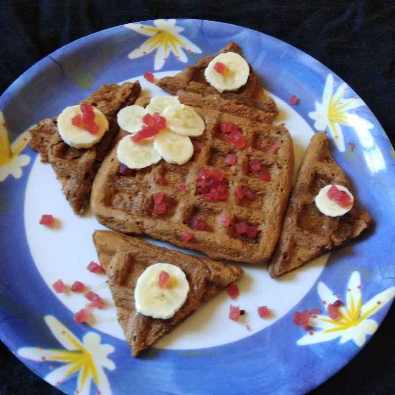 Photo of CHOCLATE CARROT WAFFLE by Asha Shah at BetterButter