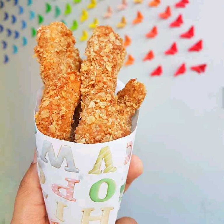 How to make Oats coated Chicken strips