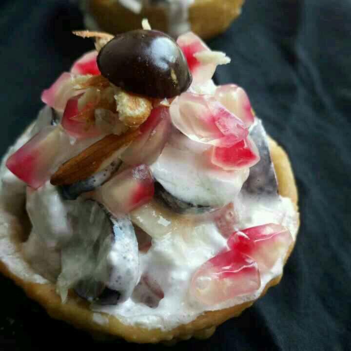 How to make Dry fruits katori chaat
