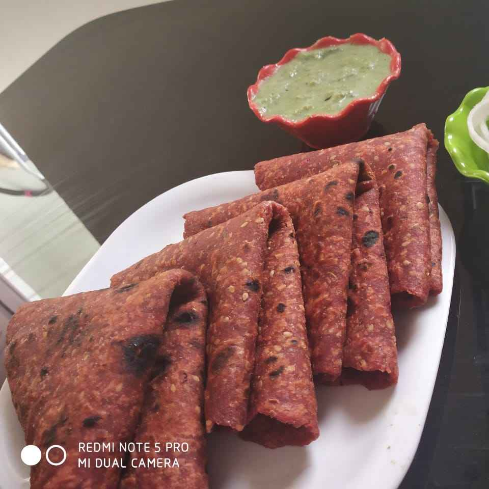 Photo of Whole Wheat Healthy, Delicious, and Nutritious Beetroot Paratha by Ashvini Singh at BetterButter