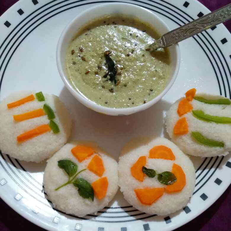 Photo of Design idli with coconut chutney by Asifa Kouser at BetterButter