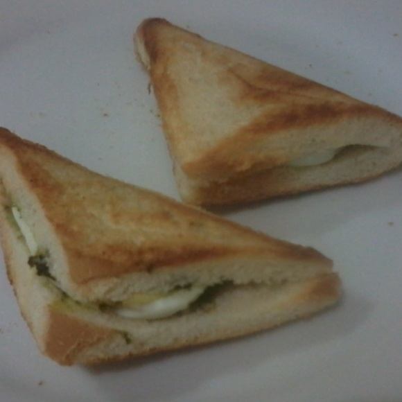 How to make Boiled egg sandwich