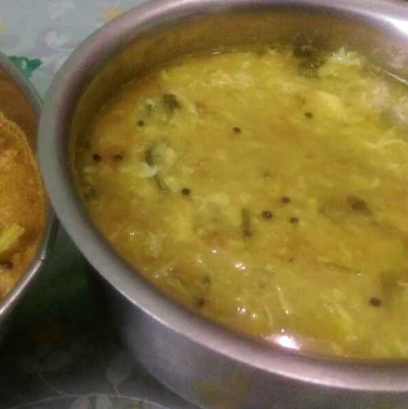 How to make Moong dal egg drop