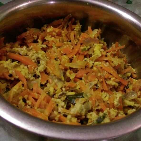 How to make Carrot egg stir fry