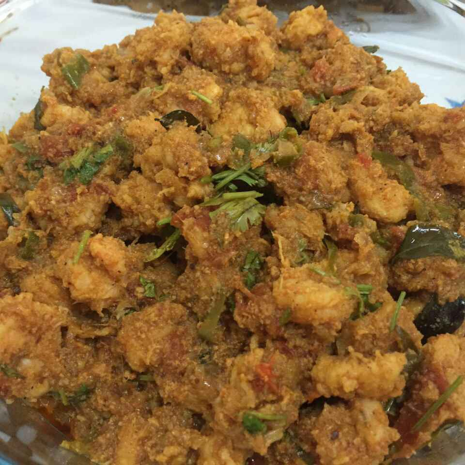 Photo of Prawn Masala ( Coconut added) by Asiya Omar at BetterButter