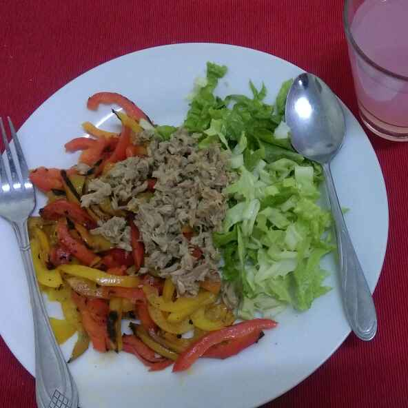 How to make Sauteed bellpepper tuna salad