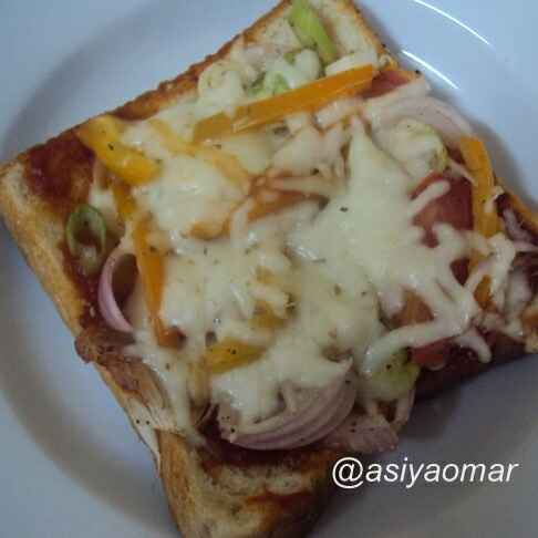 Photo of Bread veg pizza by Asiya Omar at BetterButter