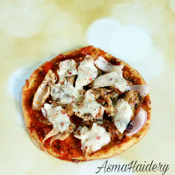 Photo of Cauliflour Base Chicken Pizza by Asma Haidery at BetterButter